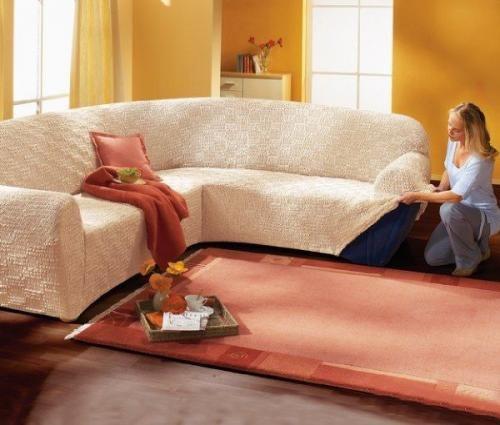 Как сшить для углового дивана накидку