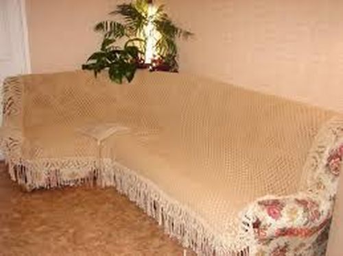 Сшить накидку на диван угловой