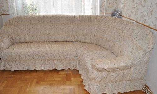 Сшить чехол на угловой диван с полкой